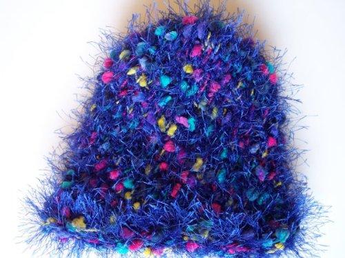 Fuzzy blue hat