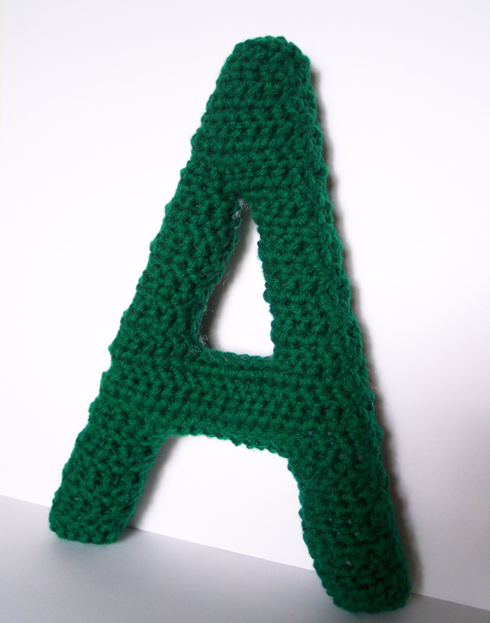 Free Crochet Pattern Letter B : Capital A Alphabet Letter Crochet Pattern Lauras Left Hook