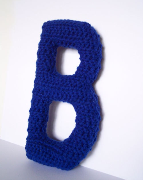 blue Lovely Little Letter B