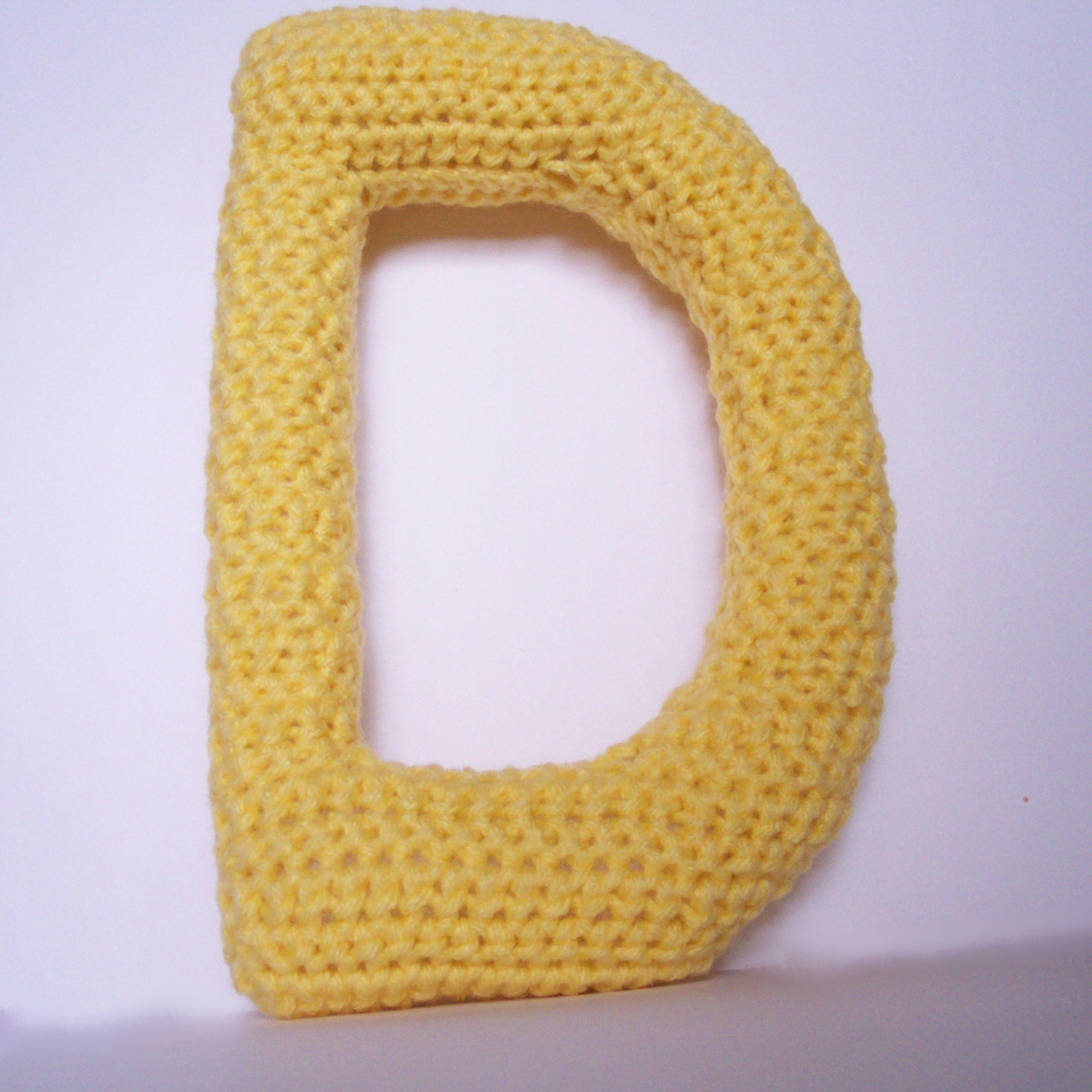Free Crochet Pattern Letter B : Gallery For > Yellow Capital D