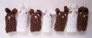 crocheted finger puppets for Easter