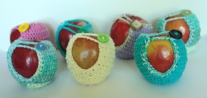 Crocheted Cozy for Apples