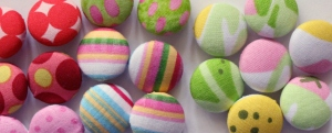 buttons for hair accessories and crocheted items