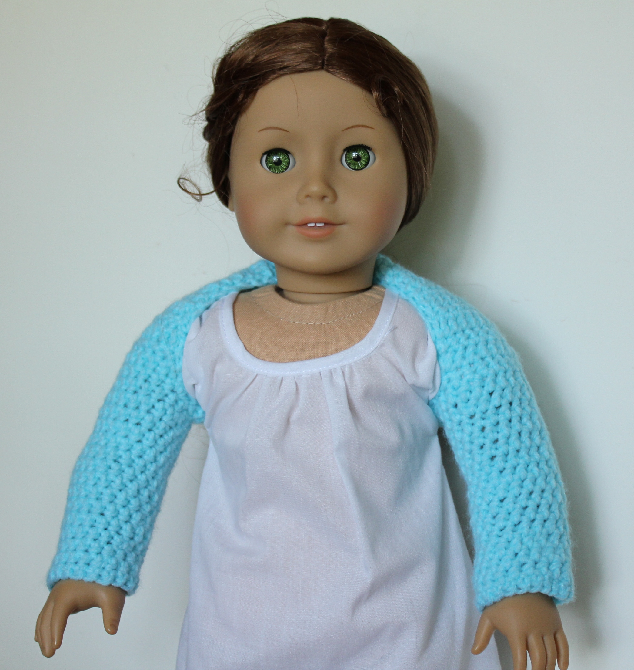 My Daughter\'s American Girl Doll Needed A New Crocheted Ballet Shrug ...