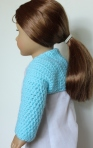 18 inch doll ballet shrug crochet