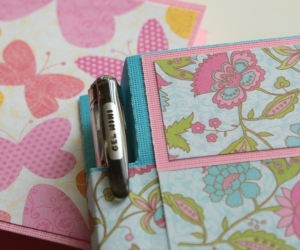 Floral and Butterfly themed post it note holders