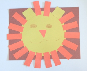 Lion shapes craft for preschool